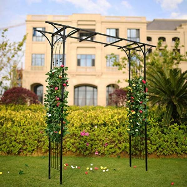1. Go Steel Garden Arch, 69 High X 411 Wide, Garden Arbor Fo...