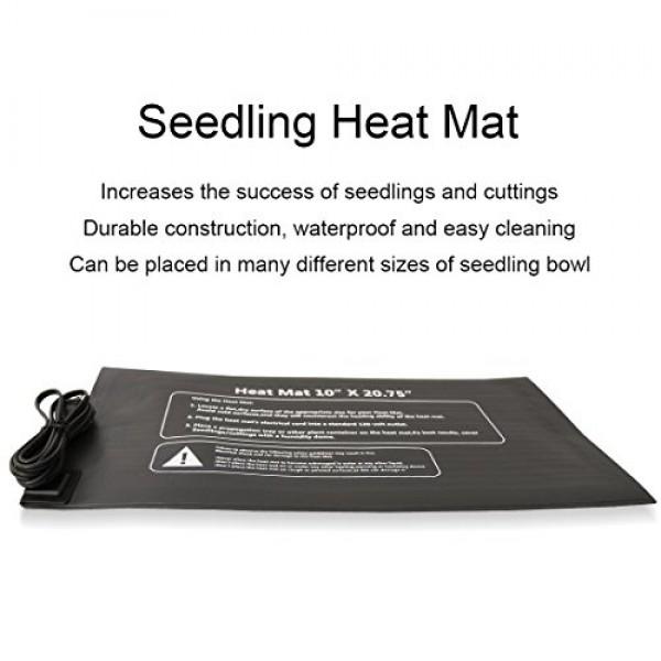 VIVOSUN Durable Waterproof Seedling Heat Mat Warm Hydroponic Heati...