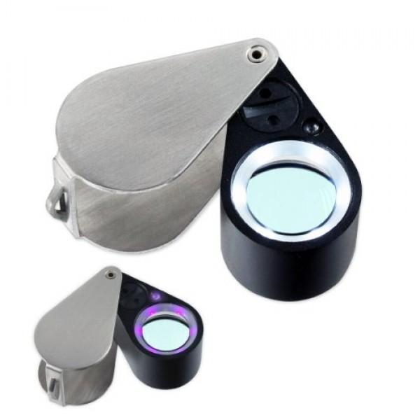 10x21mm Uv/led Triplet Illuminated Loupe-dual Light White & Uv M...