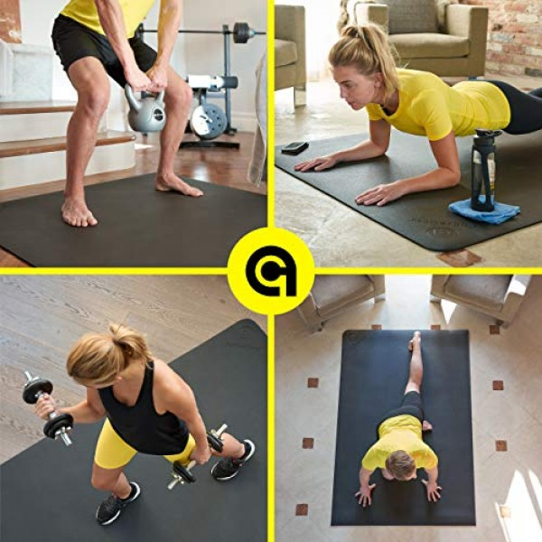 Exercise Mat 6x6x7mm | Large Workout Mat for Home | Durable Home...