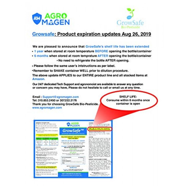 GrowSafe Bio-Pesticide Organic All-Natural Miticide,Fungicide Inse...
