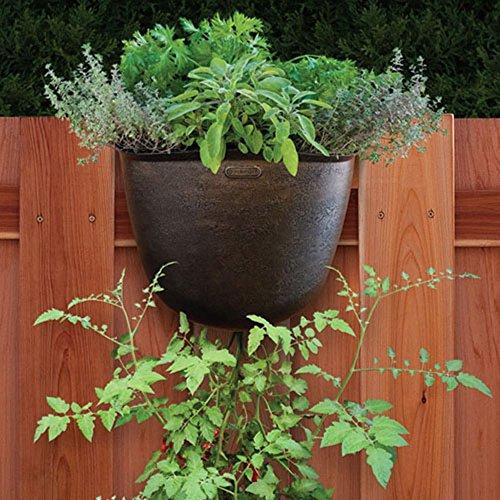 Akro-Mils Vertical Hanging Garden Planter, 13-Inch, Bronze, Set of 5