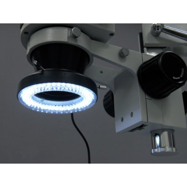 AmScope LED-144-YK 144-LED Microscope Ring Light with Adapter