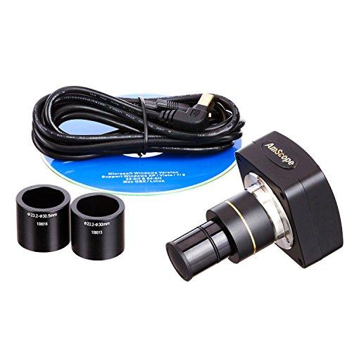 AmScope MU300 3.0MP Microscope Digital Camera, USB 2.0, Includes S...