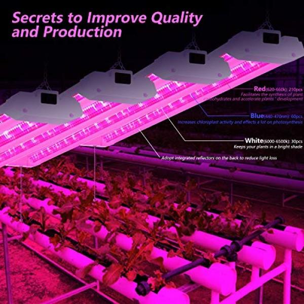 ANTLUX 4FT LED Grow Lights 50W Full Spectrum Integrated 4 Foot Gro...