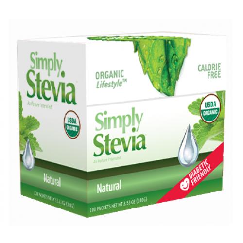 Anumed Int'l Natural 100 Simply Stevia - 100 Packets
