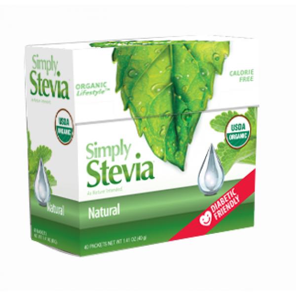 Anumed Int'l Natural 40 Simply Stevia Packets - 40 packets