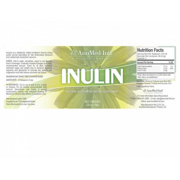 Anumed Int'l Inulin Prebiotic Fiber - 6 oz