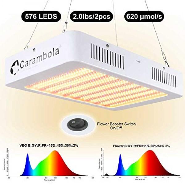 3400W LED Grow Light with Veg&Bloom Switch, LED Plant Grow Lamp Fu...