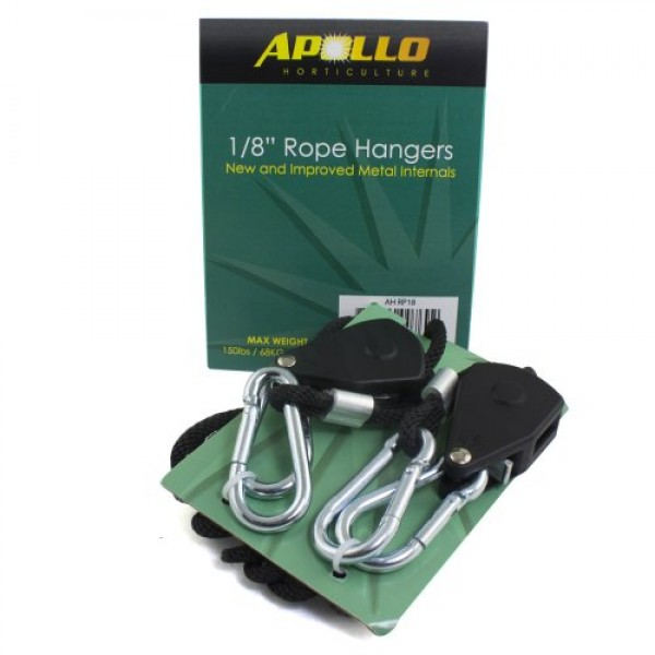 Apollo Horticulture GLRP18 Pair of 1/8 Adjustable Grow Light Rope...