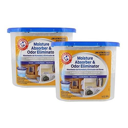 Arm & Hammer Moisture Absorber & Odor Eliminator 14oz Tub, 2 Pack ...