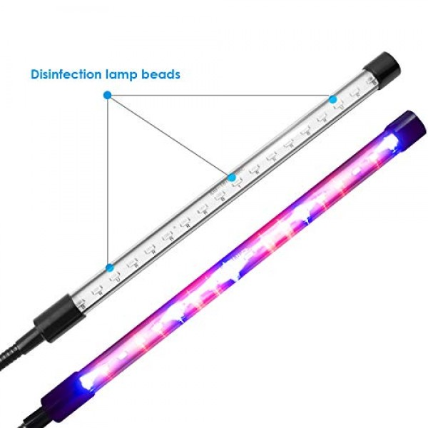 Plant Light Grow Light Timing Function Dual Head 18W LED Lights 3 ...