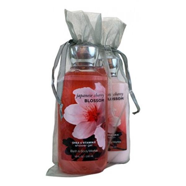 Bath and Body Works Set Shower Gel Body Lotion Cherry Blossom