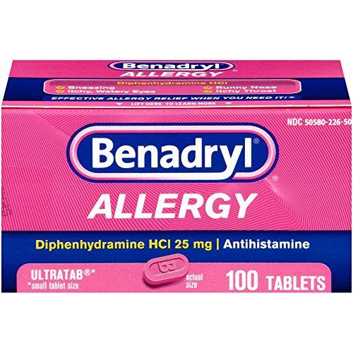 Benadryl Ultratabs Antihistamine Allergy Relief with Diphenhydrami...