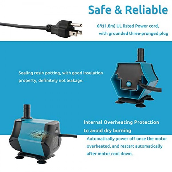 BEST BUDS 30W Submersible Water Pump for Pond, Fountain, Aquarium,...