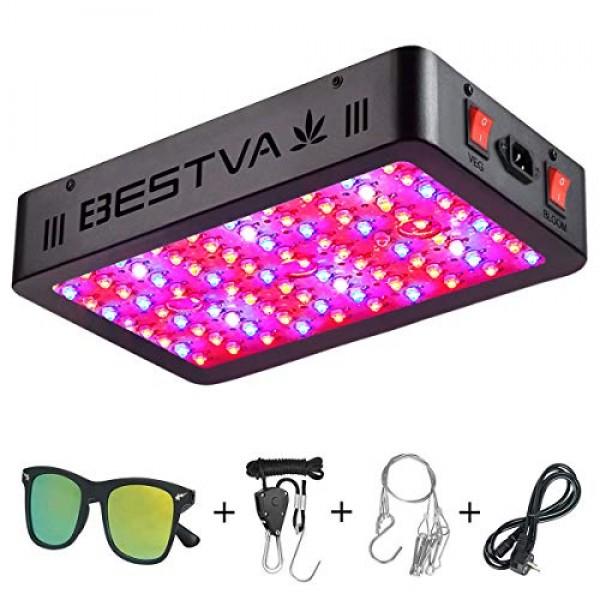 BESTVA 1000W LED Grow Light Full Spectrum Dual-Chip Growing Lamp f...