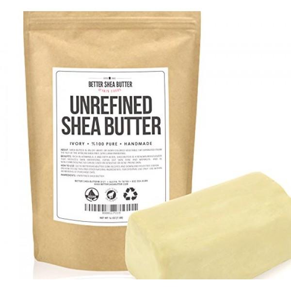 Unrefined Shea Butter by Better Shea Butter - African, Raw, Pure -...