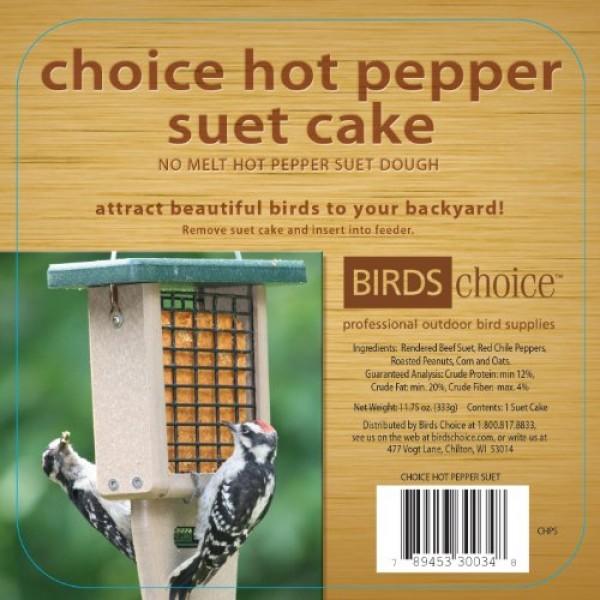 Birds Choice Hot Pepper Suet Cake 11.75 oz., Case of 12