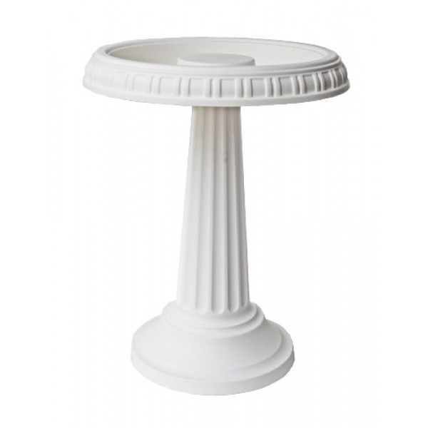 Bloem Grecian Bird Bath with Pedestal, 24 x 19, White BB2-10