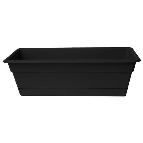 Bloem DCBT30-00 Dura Cotta Plant Window Box, 30-Inch, Black