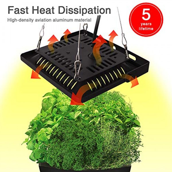 Plant Lights for Indoor Outdoor Plants Full Spectrum, Bozily IP67 ...