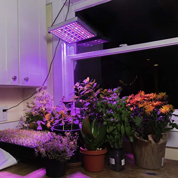 Brite Labs LED Grow Lights for Indoor Plants, 45W Full Spectrum Bu...