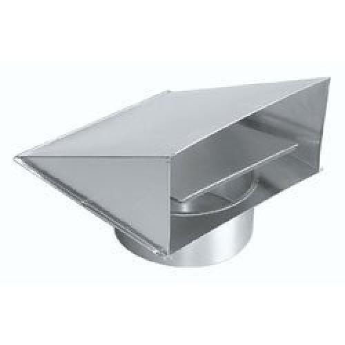 Broan 643 8 Round Duct Aluminum Wall Cap with Damper, Aluminum