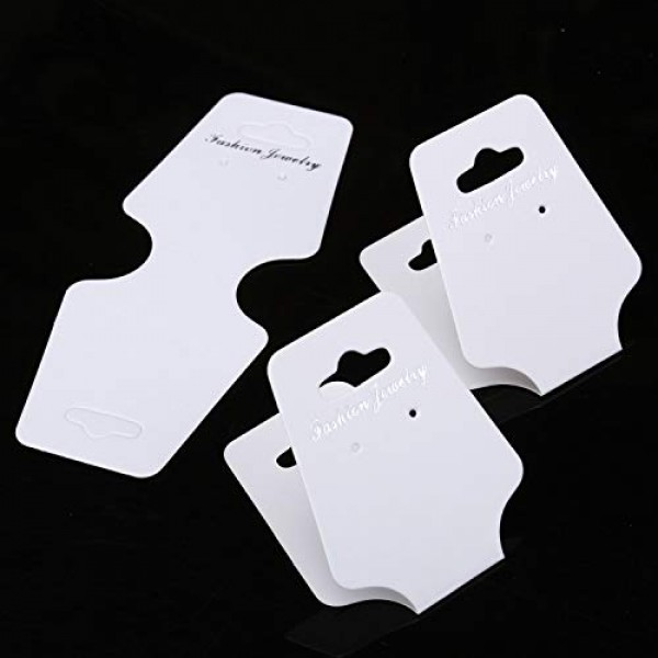 400Pcs Jewelry Display Cards with Hole Earrings Display Cards Blac...