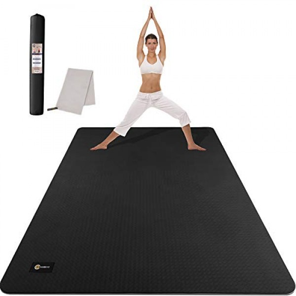 CAMBIVO Large Yoga Mat, Non-Slip Exercise Fitness Mat For Yoga, Pi...