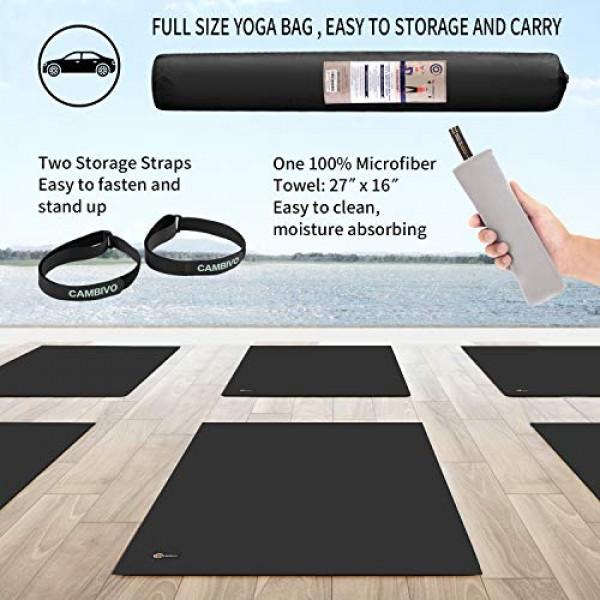 CAMBIVO Large Yoga Mat, Wide Exercise Mat 6x 4 x 8 mm 72x 48...