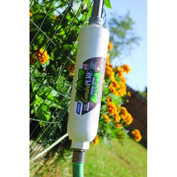 Camco GardenPURE Carbon Water Hose Filter -Filters Water from Your...