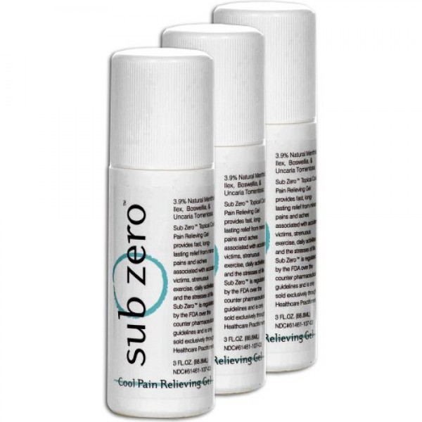 Sub Zero with Cats Claw 3.00 Oz Roll-On 3/Pack = 3 Count