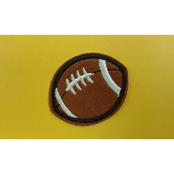 2 pieces AMERICAN FOOTBALL Iron On Patch Applique Motif Fabric Chi...