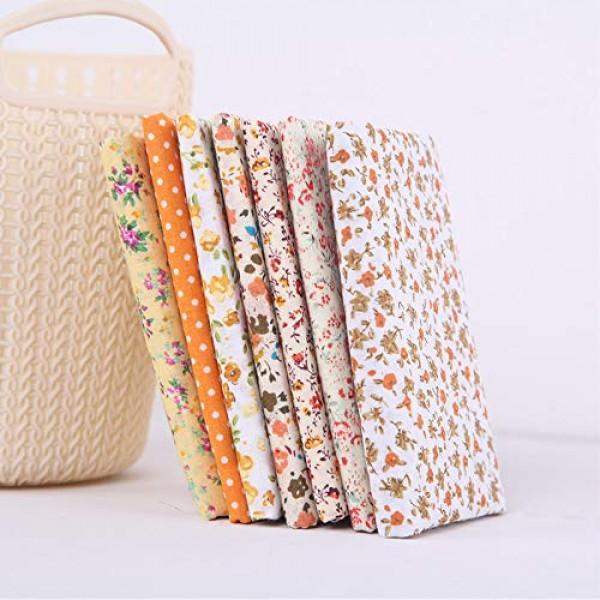 19.7 x 19.7 50cm x 50cm No Repeat Design Printed Floral Cotton...
