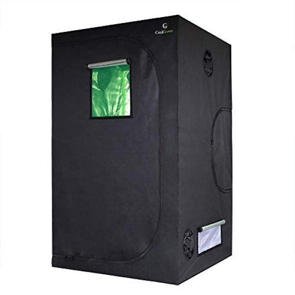 CoolGrows 48x48x80 Indoor Mylar Hydroponics Grow Tent