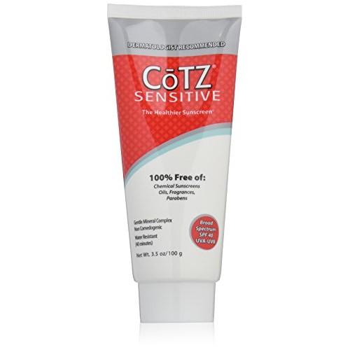 Cotz Spf 40 UVB/UVA Sunscreen for Sensitive Skin, 3.5 Ounce