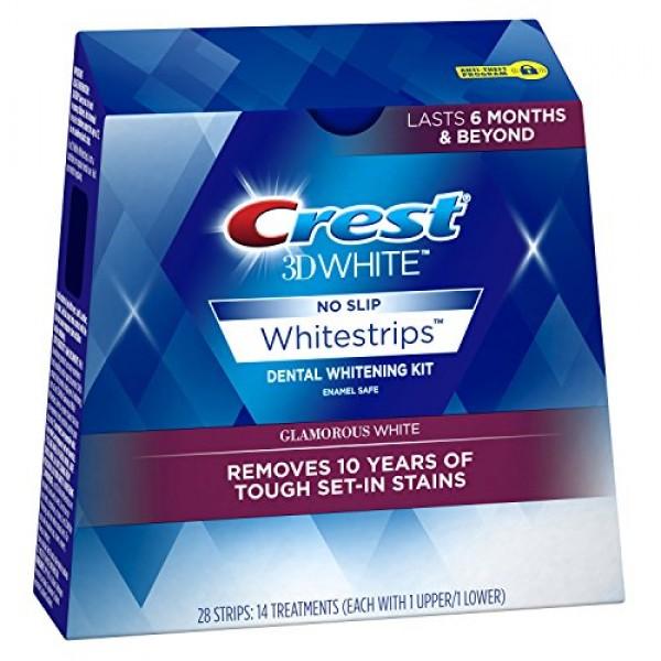 Crest 3D White Glamorous White Whitestrips Dental Teeth Whitening ...