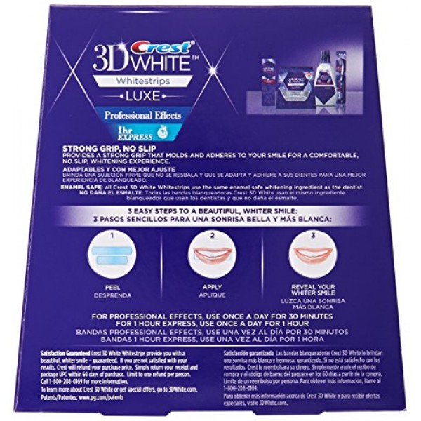 Crest 3d White Professional Effects Whitestrips Whitening