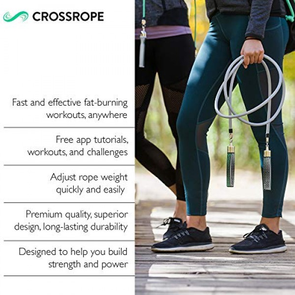 Crossrope Get Strong Set 2020 - S 80 -Weighted Jump Ropes for S...