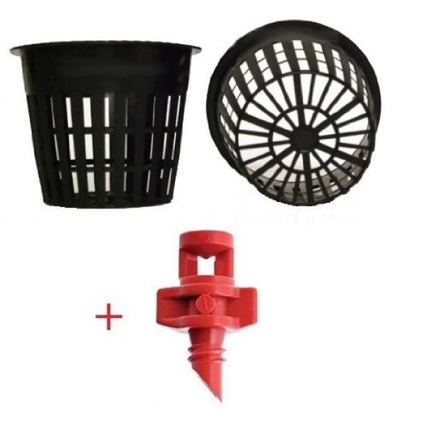 25 pack - 3 inch Round HEAVY DUTY Net Cups Pots WIDE LIP Design - ...