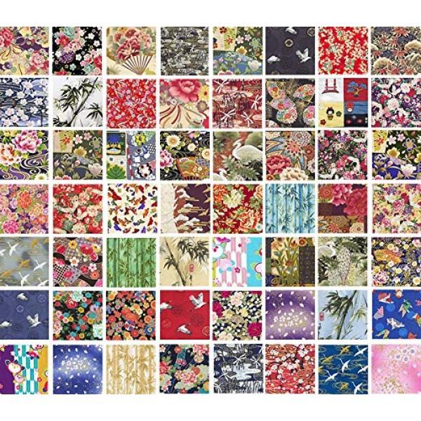 10 Asian Japanese Fat Quarter Quilt Fabric Bundle - Great for Maki...