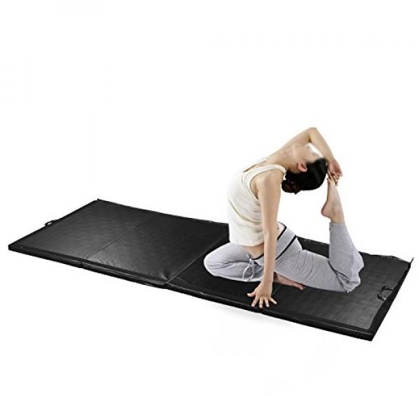 Diophros Gymnastic Mats, Tumbling Mats with Handles Folding Exerci...