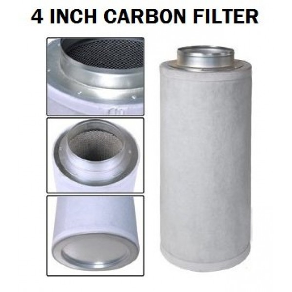 Performance 4 x 10 Activated Carbon Scrubber Odor Control Filter...