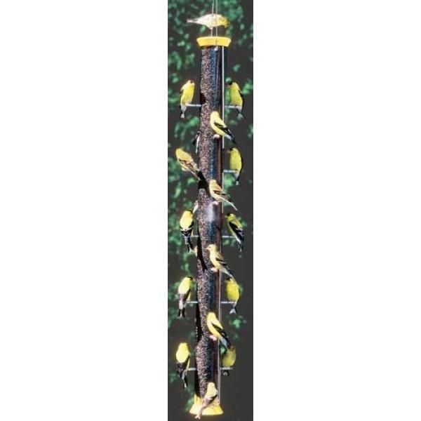 Droll Yankees CJTHM36Y 36-Inch Yellow 20-Port Thistle Seed Feeder ...
