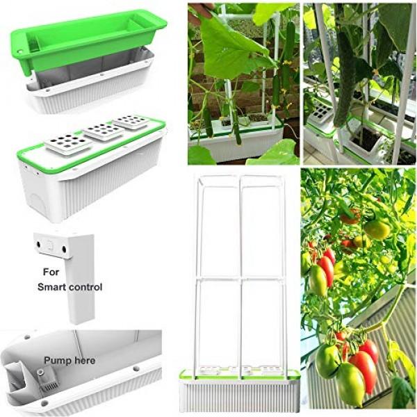 Big Smart Indoor Hydroponics Growing System Self Watering Planter ...