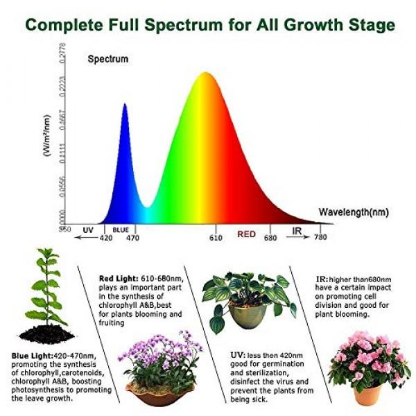1200W LED Plant Grow Light, High Power Full Spectrum 120 LEDs Sunl...