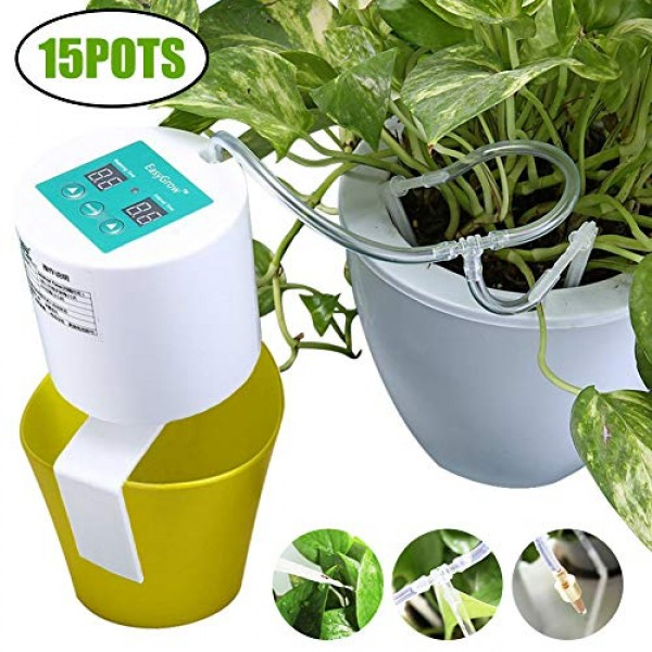Elitlife [2019 Update] DIY Micro Automatic Drip Irrigation Kit, Se...