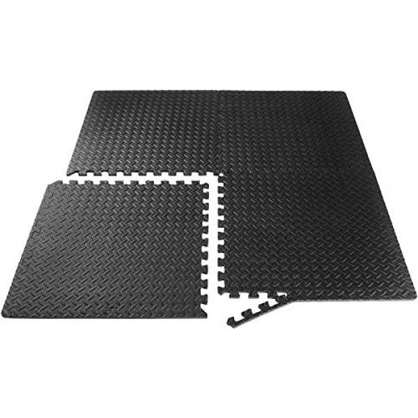 Epic Fitness EVA Foam Interlocking Exercise Gym Floor Mat Tiles, 1...