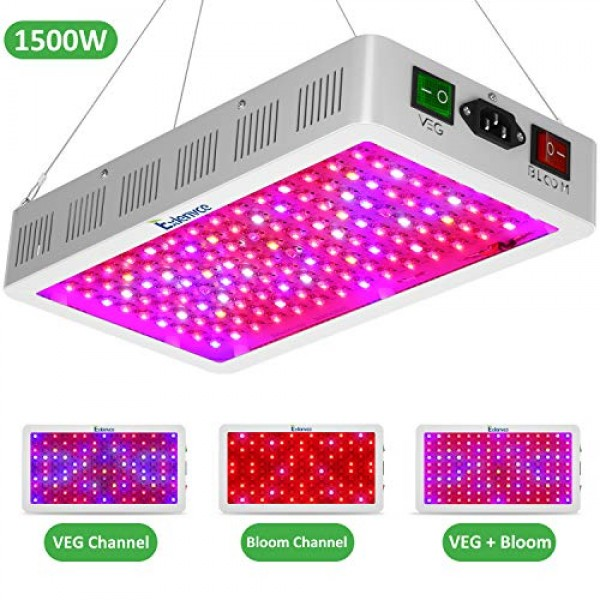 Exlenvce 1500w LED Grow Light Full Spectrum with Triple-Chips 15W ...