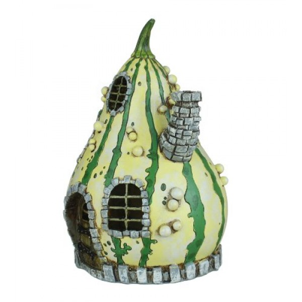 ... Georgetown Home And Garden Fiddlehead Fairy Striped Gourd House